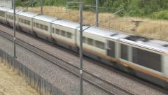 Eurostar train in Kent, England. Stock Footage