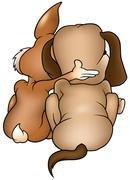 Dog and Rabbit Stock Illustration