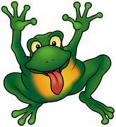 Happy Frog Stock Illustration