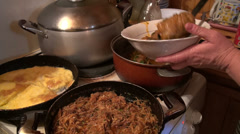 Home made Georgian meal - stock footage