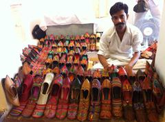 Stock Photo of India shoe shop
