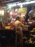 Indian night market Stock Photos