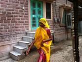 Stock Photo of Indian woman in colorful sari
