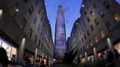 Rockefeller Center Establishing Shot Stock Footage