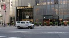 Trump Tower Establishing Shot Stock Footage