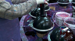 Bowling Ball Factory- Paint Stock Footage