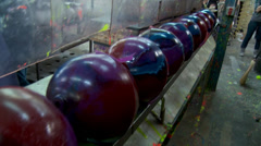 Bowling Ball Factory- Rolling Stock Footage