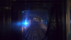 Stock Video Footage of New York Subway Train POV Forward Ahead View