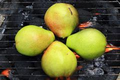 grilled pears - stock photo