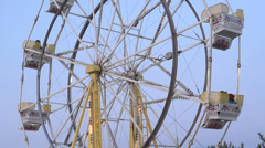 Carnival - ferris wheel at dusk slow mo 120fps Stock Footage
