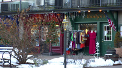 Village Christmas Shops Stock Footage