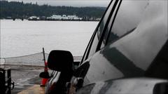 Bainbridge Ferry Coming Into Dock Stock Footage
