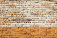 Stock Photo of pattern of colorful modern brick wall texture