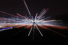 Abstract conceptual of blackhole with light in galaxy Stock Photos