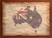 Stock Photo of vintage australia map on paper craft