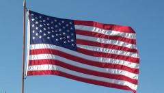 American Flags, United States, 4th of July, 2D, 3D - stock footage