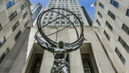 Stock Video Footage of Atlas Statue at Rockefeller Center