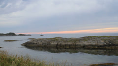 Atlantic Ocean from Kristiansund sunset Stock Footage