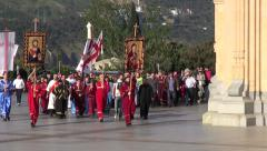 Procession around Tbilisi church, Georgia Stock Footage