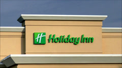 Holiday Inn highway hotel  zoom-out Stock Footage