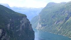 Norwegian fjord Stock Footage