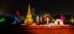 ayutthaya ligth & sound presentation and thai historical acting on dec 7-16, - stock photo