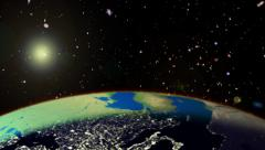 Sunrise from space Stock Footage