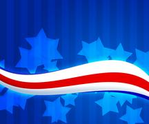 American flag 4th july background Stock Illustration