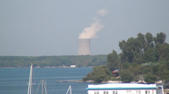 Nuclear Power Plant, Air Pollution, Energy, Electricity, 2D, 3D Stock Footage