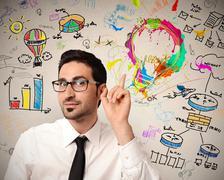 Stock Photo of creative business idea