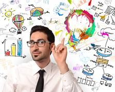Creative business idea Stock Photos