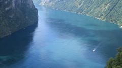 Norwegian fjord gorgeous Stock Footage