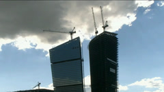 Construction of skyscrapers Stock Footage