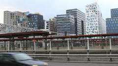 Oslo skyscrapers Stock Footage