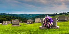 Cemetery in glen rock, pennsylvania. Stock Photos