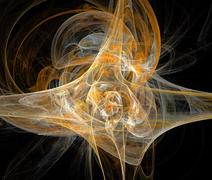 Digitaalisen fractal mustalla Kuvituskuvat