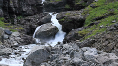 Mountain stream in Scandinavian Mountains Stock Footage