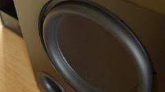 Big base speaker Stock Footage