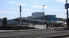 Norwegian National Opera House in Oslo Stock Footage