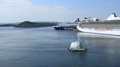 Oslo Harbor Stock Footage