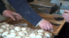 Playing backgammon in a shop, Tbilisi Stock Footage