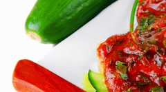Cheese cannelloni served Stock Footage