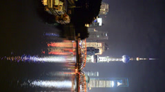 Shanghai by night - stock footage