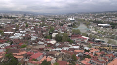 Skyline Tbilisi, cable cars Stock Footage