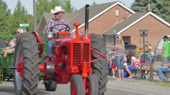 Small town Parade 6 Stock Footage
