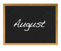 august. - stock illustration