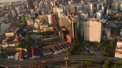 Aerial view of Rio de Janeiro business center Stock Footage