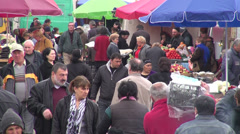 Main market in Tbilisi Stock Footage
