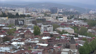 Stock Video Footage of Cable car, Tbilisi skyline, capital city of Georgia in the South Caucasus