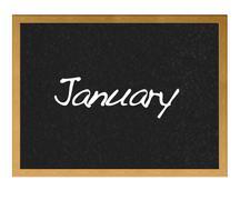 January. Stock Illustration